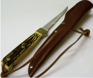 Schrade Uncle Henry Camping Full Tang Fishing Fish Filet Fillet Knife