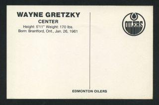 1979 Wayne Gretzky Edmonton Oilers Team issued Postcard