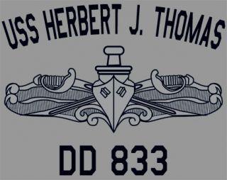 US USN Navy USS Herbert J Thomas DD 833 T Shirt