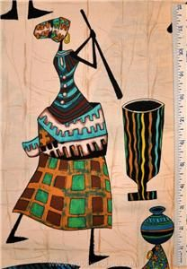 Alexander Henry Calabash African Lady Ethnic Fabric BTY