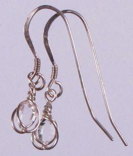 Herkimer Diamond Quartz Crystals in Handmade Argentium Sterling Silver