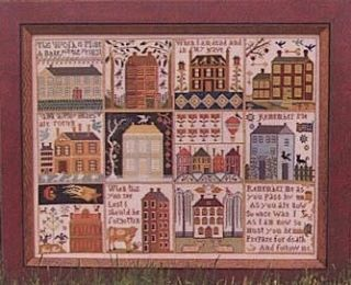 Houses of Hawk Run Hollow cross stitch pattern Carriage House