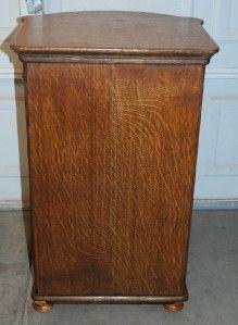 antique oak herzog cylinder cabinet