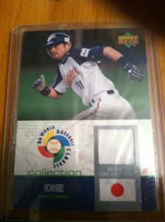 2006 UPPER DECK ICHIRO WORLD BASEBALL CLASSIC COLLECTION JERSEY CARD