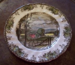 Johnson Brothers England Friendly Village Hayfield Dinner Plate Loc