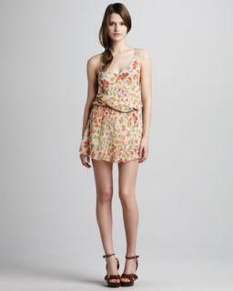 Haute Hippie Strappy Printed Dress