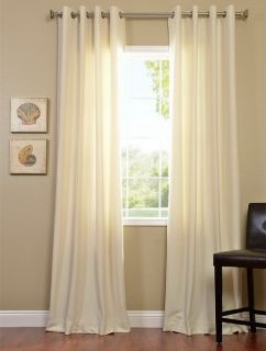 Vanilla Grommet Cotenza Cotton Curtain Panel
