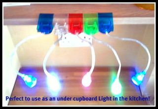 New Kids Bunk Bed Night Light Mini LED Clip on Reading