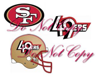 49ers SF Nail Art Decals Waterslide Set of 60 3 Different Designs