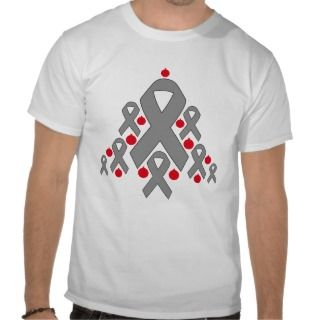 Brain Cancer Christmas Ribbon Tree Shirt