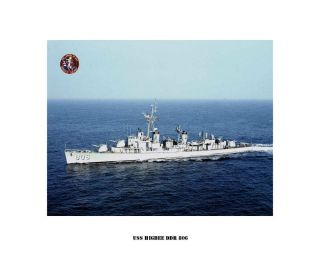 USS Higbee DDR 806 US Naval Destroyer USN Navy SHIP Print