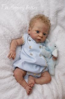 Thistleberry Babies Full Body Solid Silicone Baby Boy Beautifully