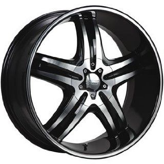 Cruiser Alloy Impulse 22x9.5 Machined Black Wheel / Rim 5x4.5 & 5x4.75