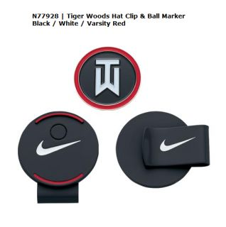New Nike Golf Tiger Woods Hat Clip Ball Marker N77928