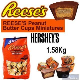 Hersheys Reeses 1 58kg Peanut Butter Cups Miniatures Milk Chocolate