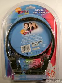 Sakar I Carly Digital LCD CD Player Headphones Portable Battery