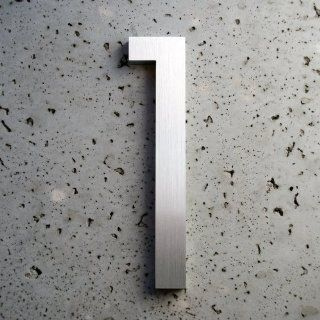 Modern House Number Aluminum Modern Font Number One 1   8