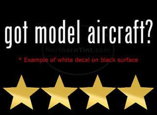 got model aircraft vinyl wall art car decal sticker more