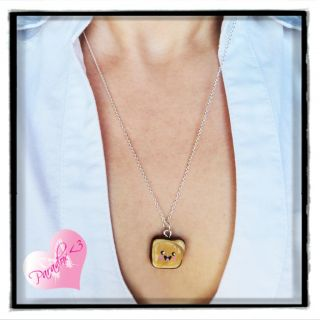 Kawaii Kitsch Happy Peanut Butter Jelly Best Friends Forever Necklace