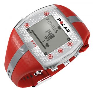 Heart Rate Monitor FT7 Red Silver with WearLink Coded Transmitter NEW