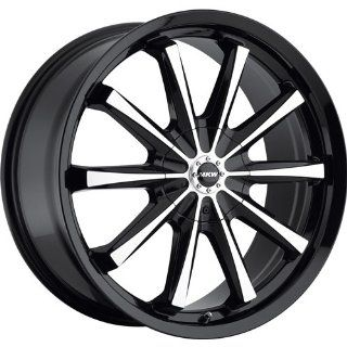 MKW M110 18 Black Wheel / Rim 5x100 & 5x4.5 with a 40mm Offset and a