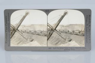 Card Photo Bucyrus Co Steam Shovel Bucyrus Erie Shot Hibbing MN