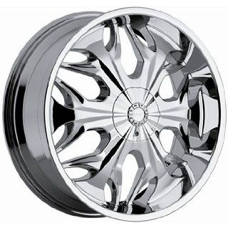 Akuza Reaper 22x8.5 Chrome Wheel / Rim 5x112 & 5x4.5 with a 35mm