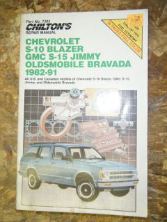 1982 1991 CHEVY GMC S T PICK UP BLAZER JIMMY CHILTONS REPAIR MANUAL