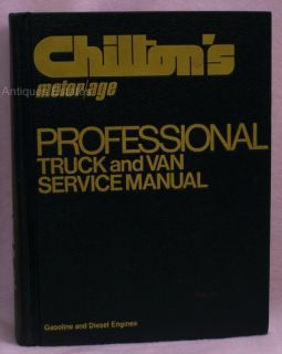Chiltons Motor Pro Truck Van SVC Manual Gas Diesel 1976 Hardcover