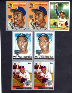 Hank Aaron Topps Cards Lot of 7 1994 to 2000
