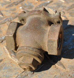 Original Hays Brass Oilfield Hit Miss Gas Engine Diamond Fuel Valve