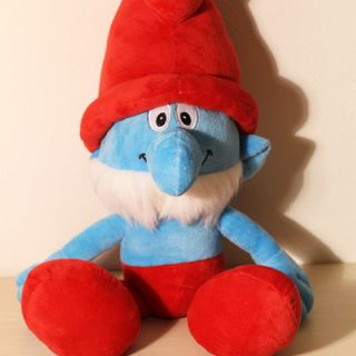 The Smurfs Movie 16 Smurfs Stuffed Plush Doll Toy Papa Smurf