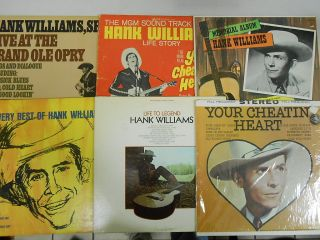 HANK WILLIAMS Sr HUGE LOT of 14 LP Records 33 rpm COUNTRY MUSIC VG to