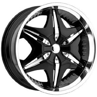 Akuza Big Papi 20x9 Black Wheel / Rim 6x5.5 with a 10mm Offset and a