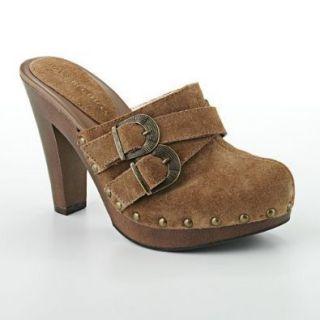 Dana Buchman Womens 8 Clog Hazelton Heel Brown Shoe