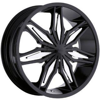 Milanni Stalker 22 Black Wheel / Rim 5x4.25 & 5x4.5 with a 38mm Offset