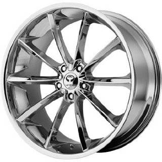 Lorenzo WL032 20x8.5 Chrome Wheel / Rim 5x4.5 with a 35mm Offset and a