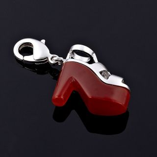 Lady Gift Jewelry High Hill Cutting Red Agate 18K WGP Red Agate Color