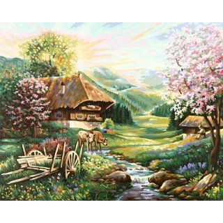 The Spring Paint By Number Kit Toys & Games
