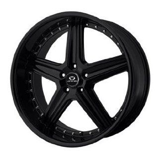 Lorenzo WL019 18x8 Black Wheel / Rim 5x112 with a 45mm Offset and a 66