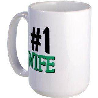 Number 1 WIFE Humor Large Mug by CafePress: Kitchen