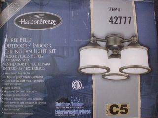 Harbor Breeze Westinghouse Indoor Outdoor Ceiling Fan Light Bells Kit
