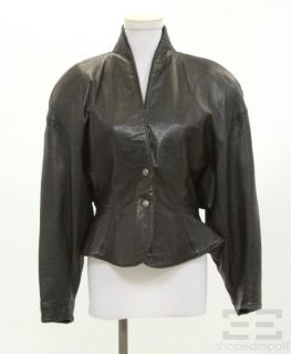 Michael Hoban for North Beach Leather Black Leather Snap Front Jacket