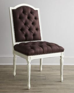 Frison Dining Furniture, French Script Armchair, & Black Linen