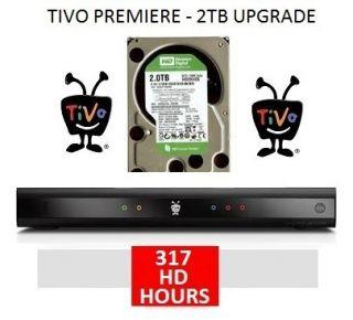 TiVo Premiere TCD746320 2TB WD Hard Drive Upgrade Kit Plug Play
