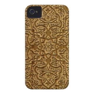 Intricate arabic wood carving iPhone 4 Case Mate case