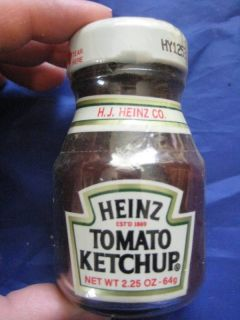 Vintage Heinze Tomato Ketchup Small Glass Bottle PA
