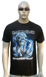 Official Iron Maiden Different World Hardcore Alien Heavy Metal Tee T