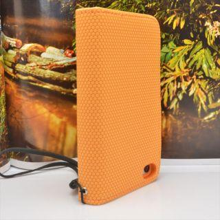 Orange Color Wallet Flip Dot Leather Hard Cover Case for Apple iPhone