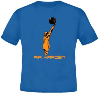 James Harden OKC Oklahoma Basketball Royal Blue T Shirt